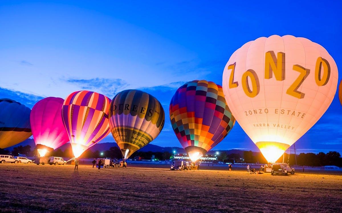 yarra valley sunrise hot air balloon flight-1