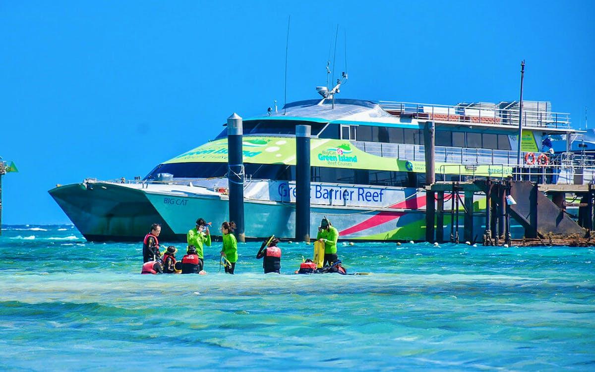 half day green island reef catamaran cruise-1