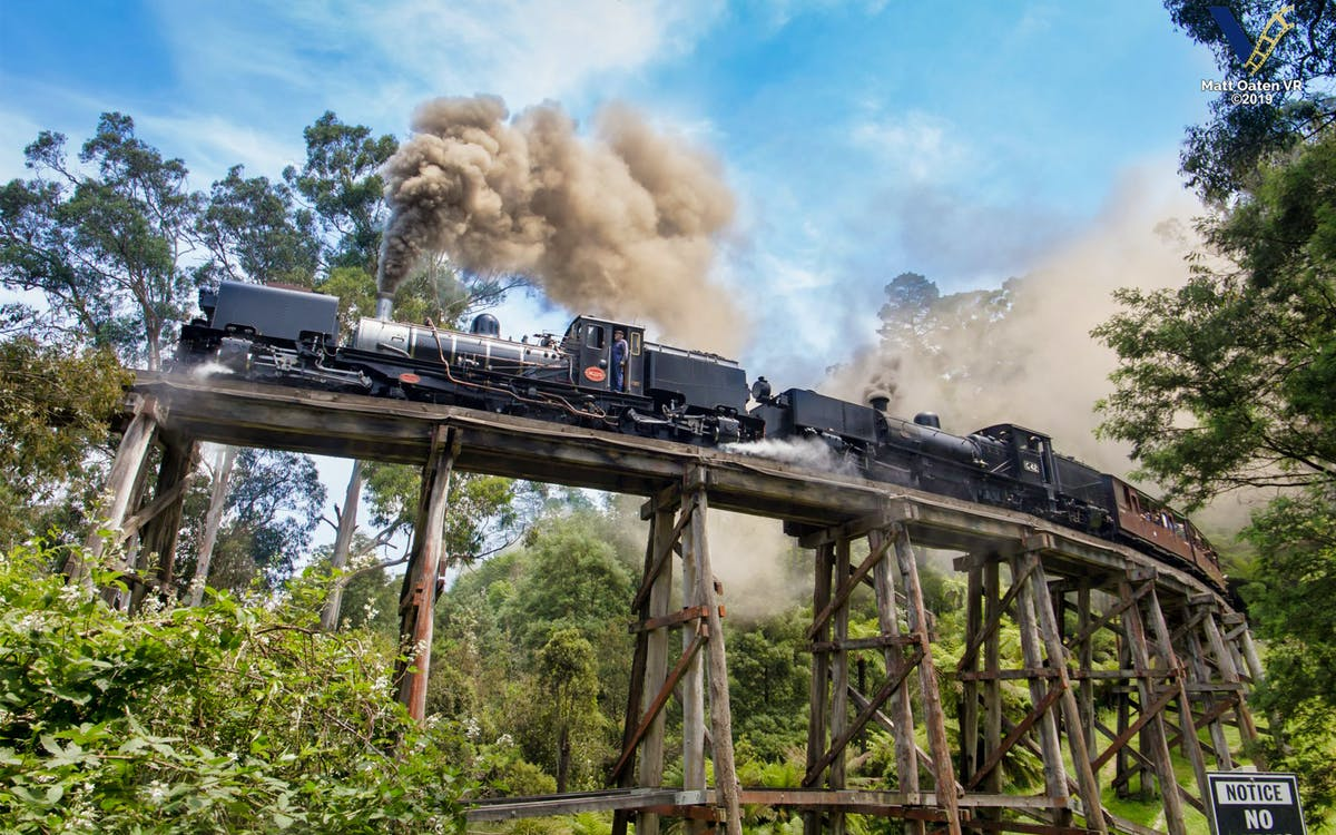 puffing billy railway belgrave to lakeside return tickets-1