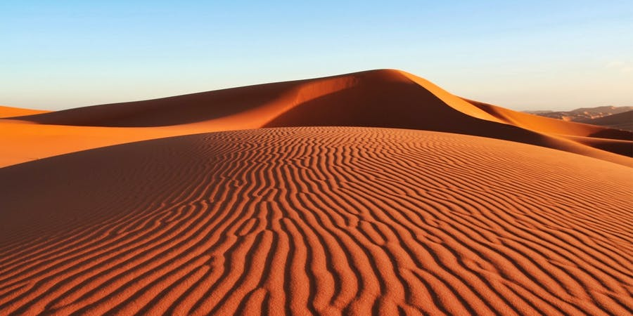 Dubai in July - evening desert safari