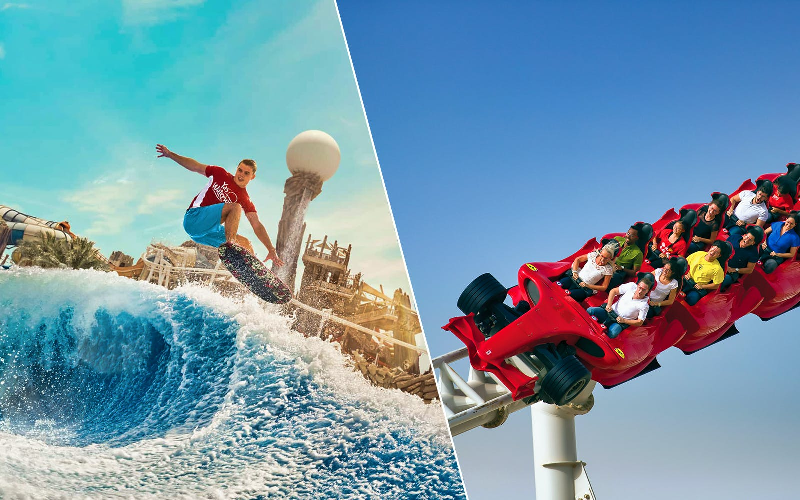 Ferrari World and Yas Waterworld One Day Pass with Transfers