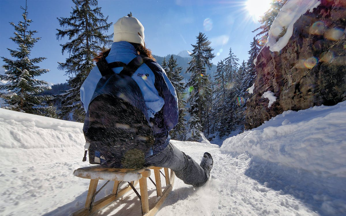 winter alpine adventure with snowshoe, sledding and cheese fondue lunch-0