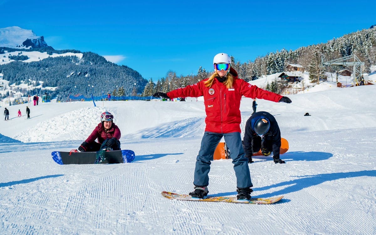 grindelwald half day beginner snowboard package with optional transfers from int-0