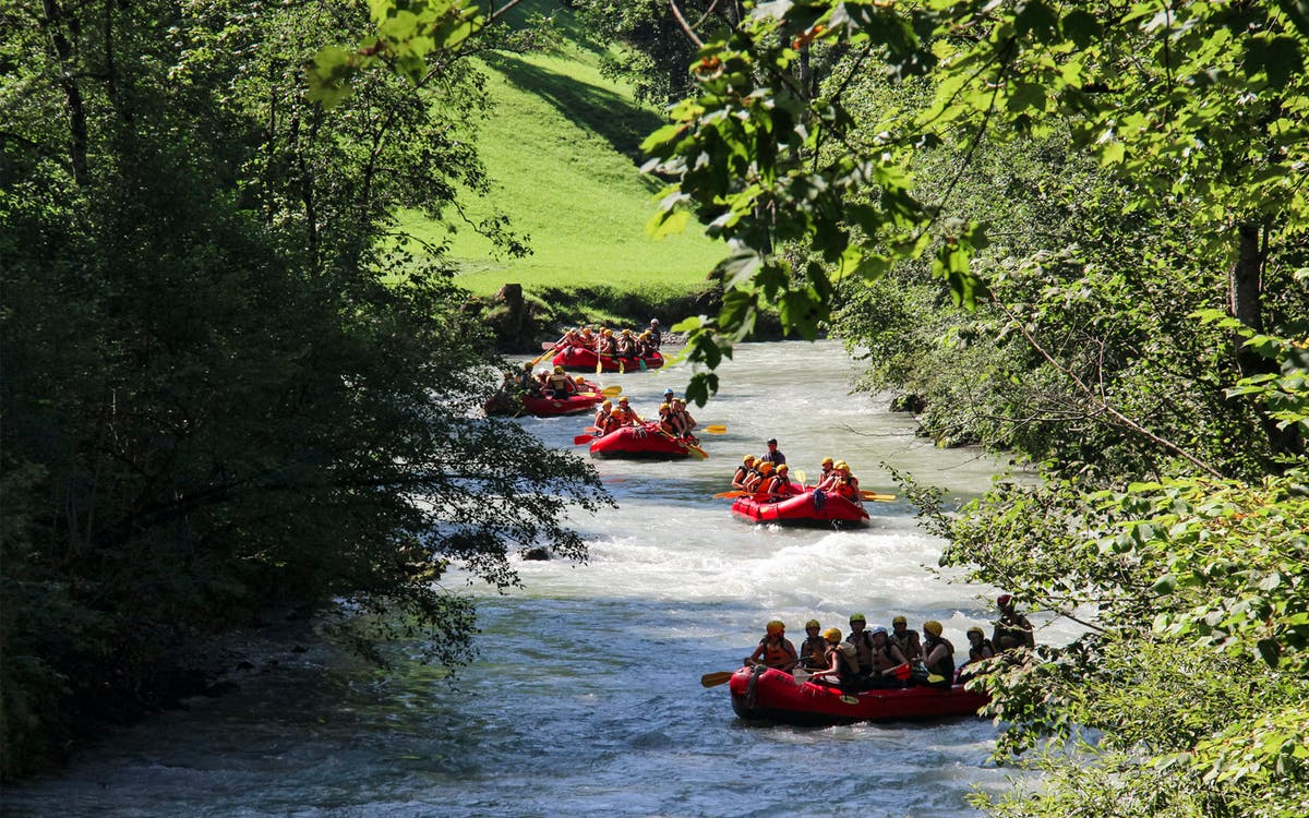 river rafting at thun with raclette dinner-0