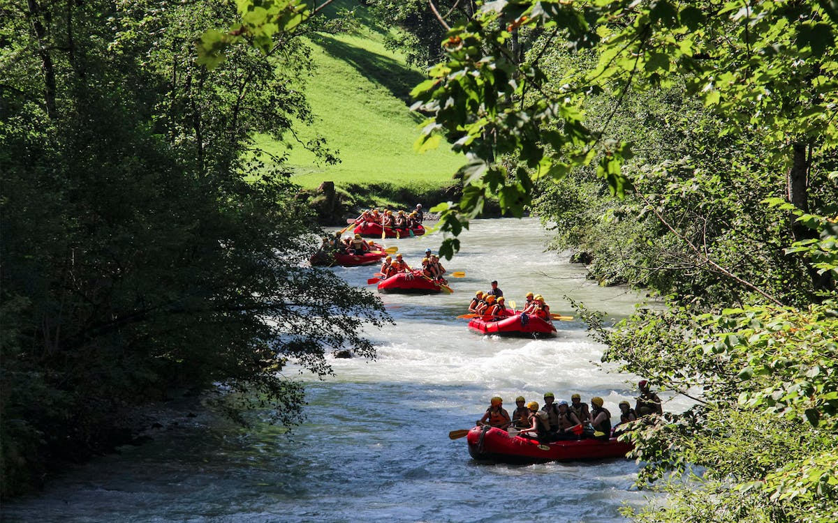 river rafting at brienz with raclette dinner-0
