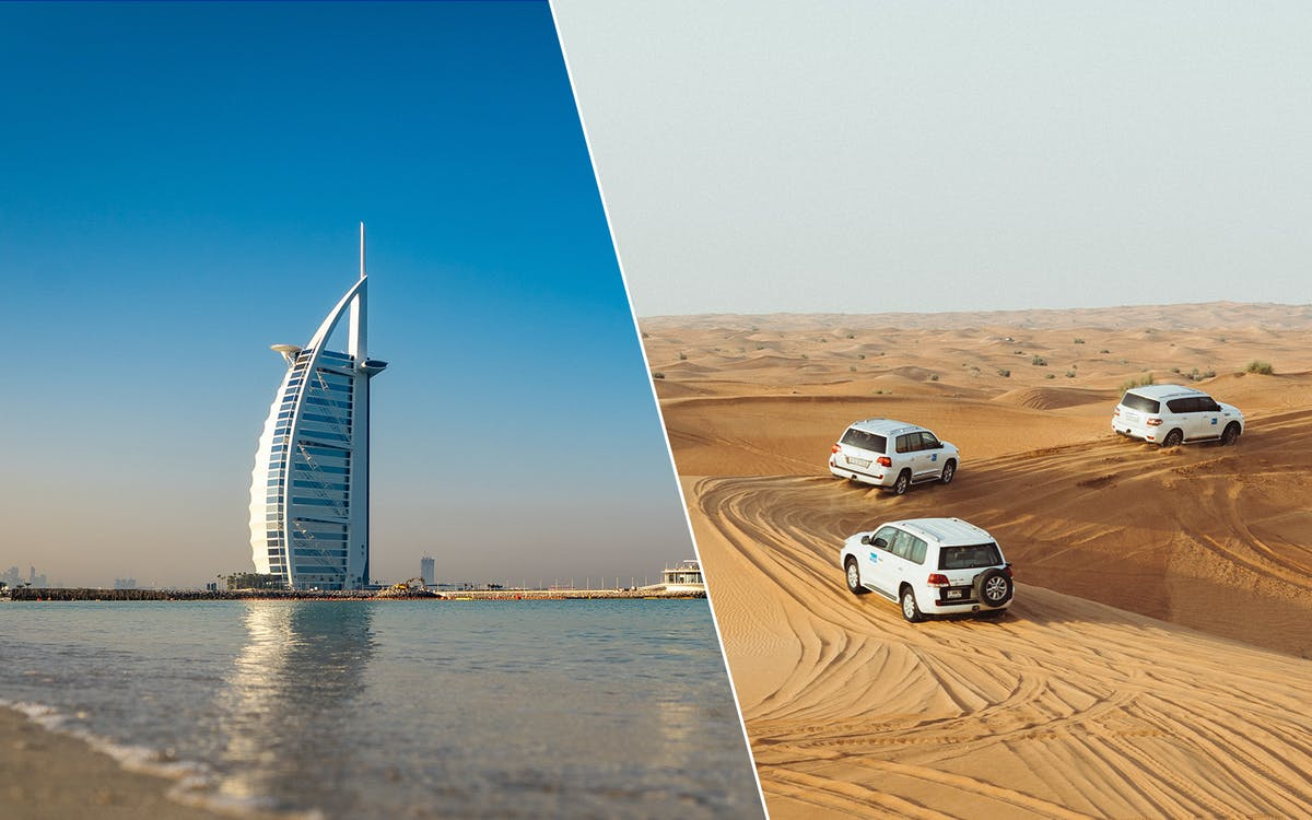 2 day combo: desert safari + dubai city tour + dhow dinner cruise -1