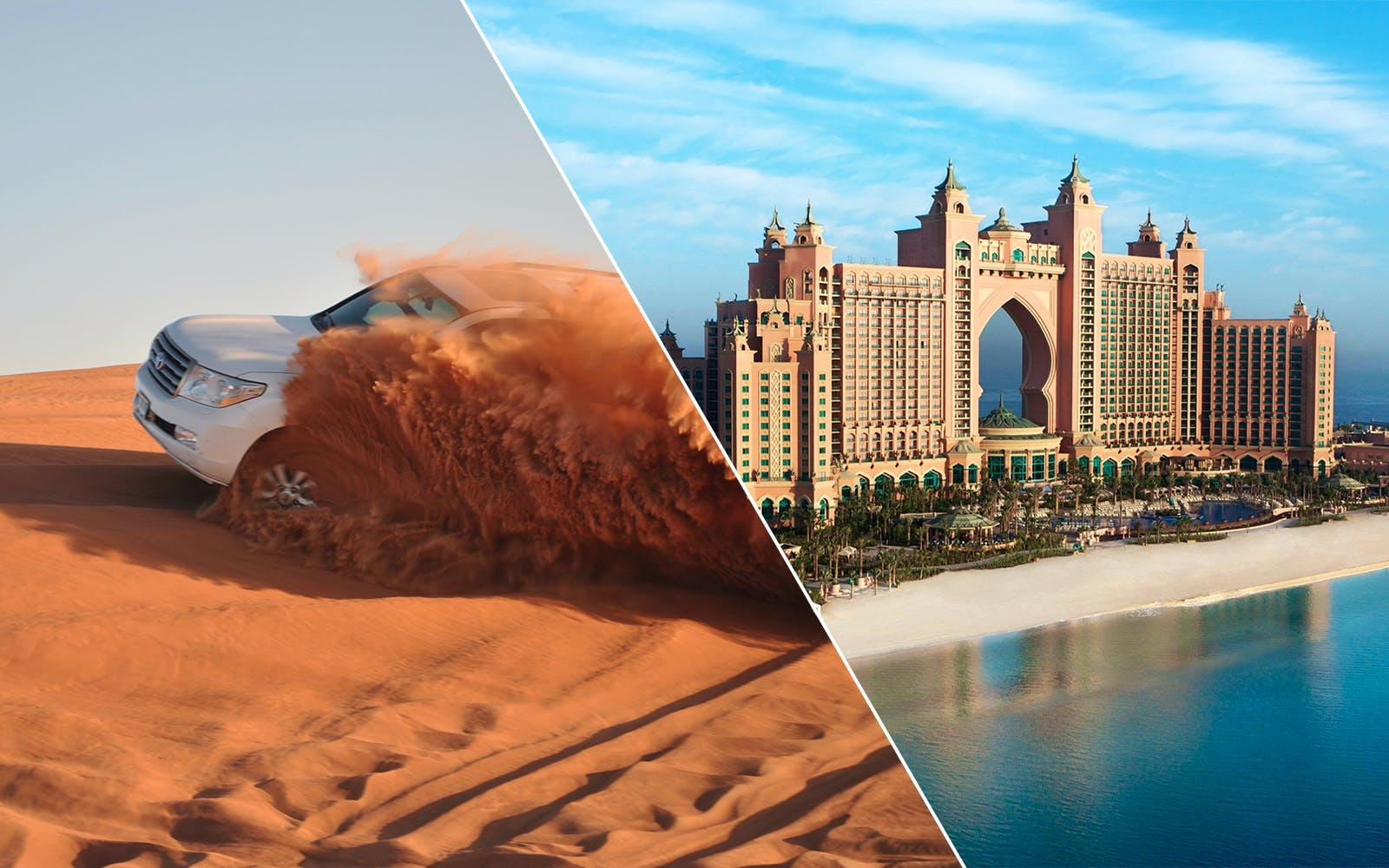 2 Day Combo: Desert Safari + Dubai City Tour + Dhow Dinner Cruise