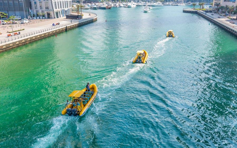 the yellow boats: 99 minute premium marina boat tour-0