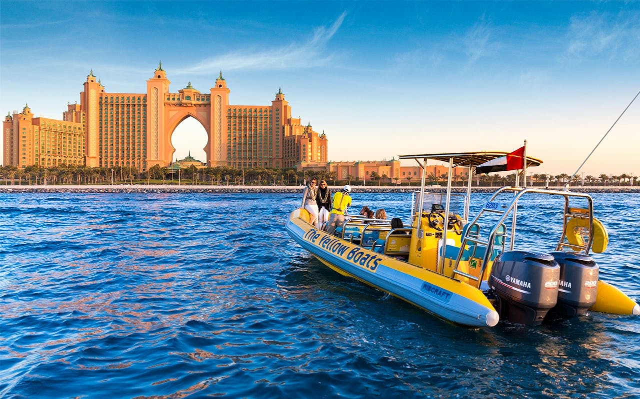 the yellow boats: 75 minutes atlantis boat tour-1