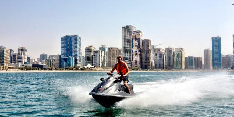Water sports in Dubai