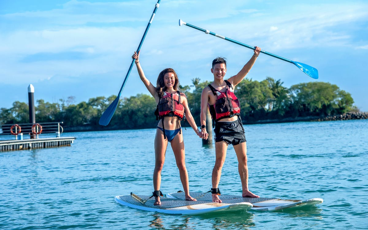 ola beach club water activities - stand up paddle board-0