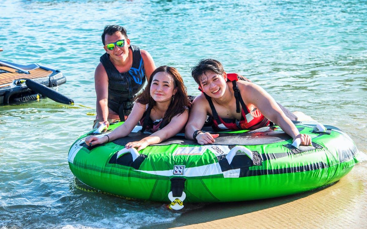 ola beach club water activities - donut ride-1
