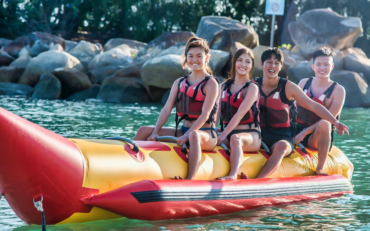 ola beach club water activities - banana boat ride-0