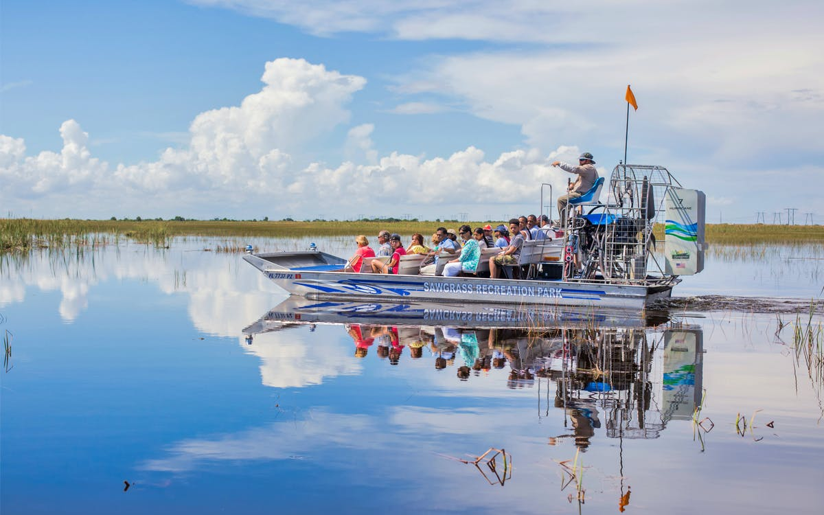 sawgrass recreation park: airboat ride with access to reptile exhibits-1