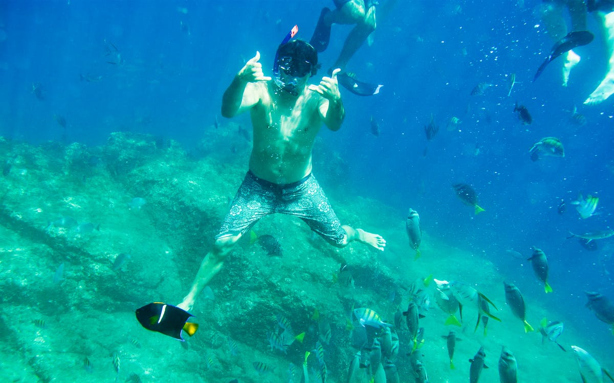 glass bottom kayaks & snorkeling tour at the arch-0