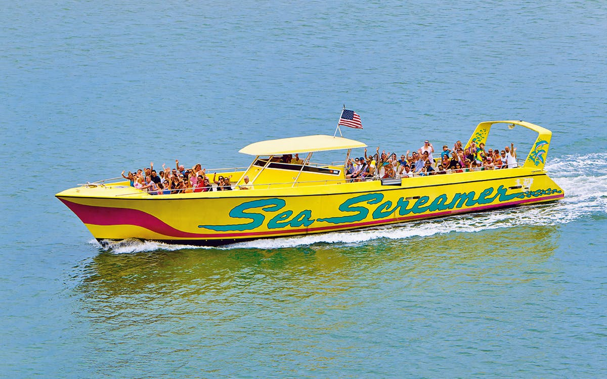 the sea screamer boat ride and clearwater beach tour-0