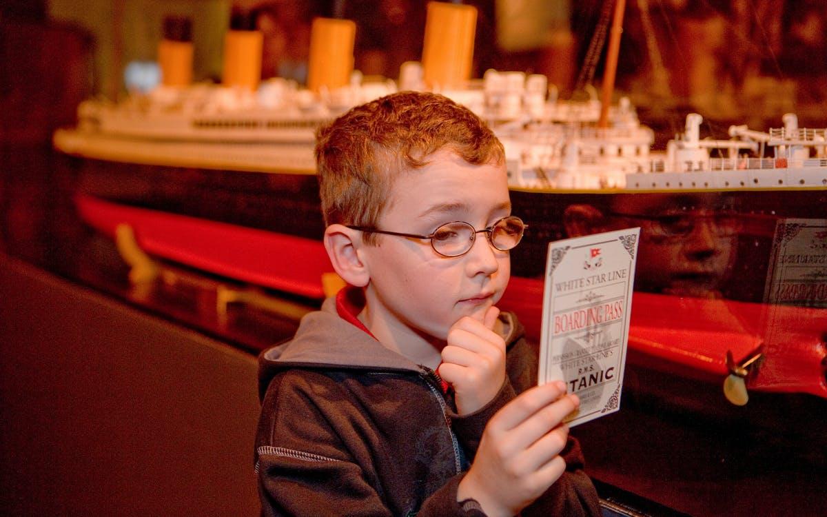 titanic artifact exhibition : admission tickets-1