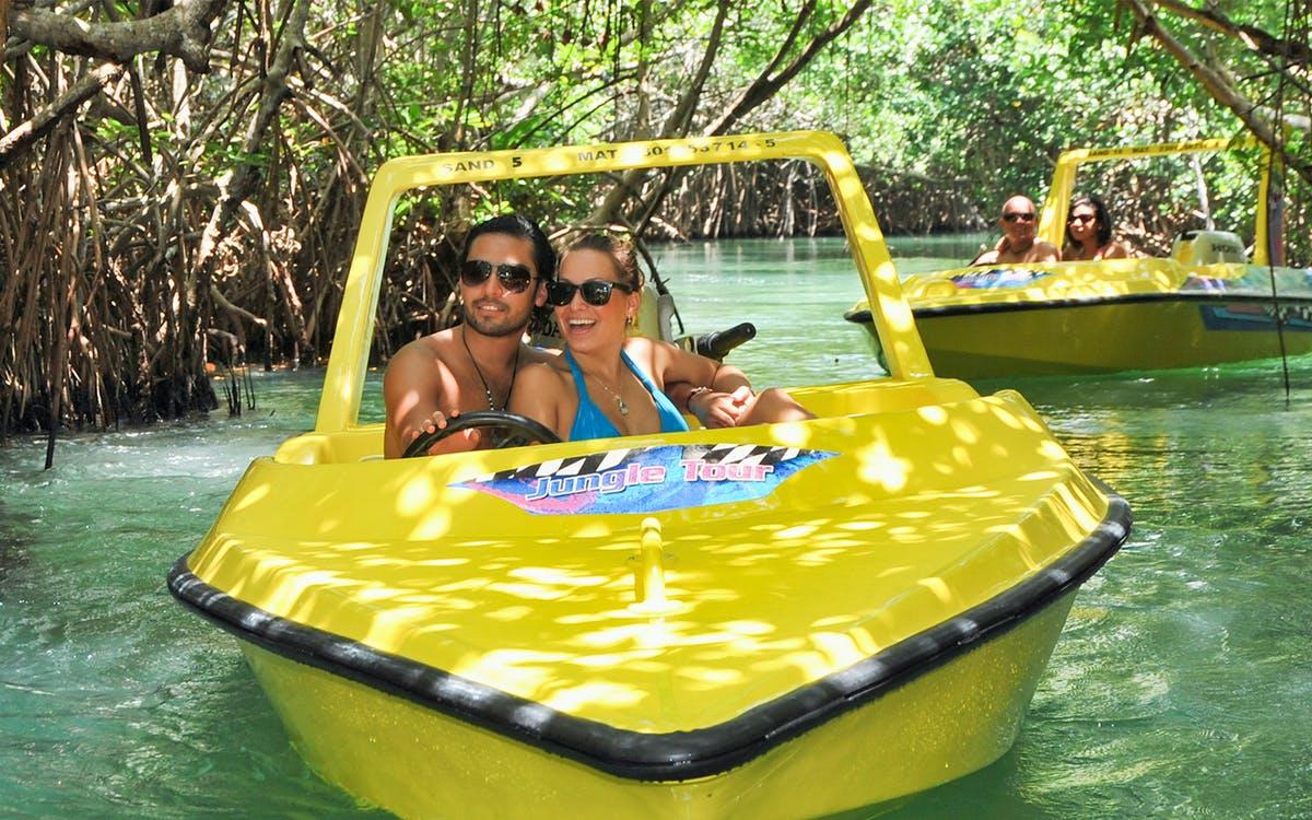 jungle tour adventure : speed boating in cancun-0