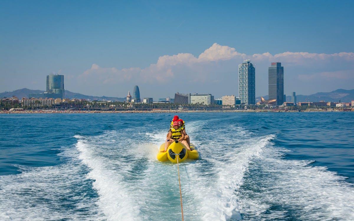 banana boat ride in barcelona-0