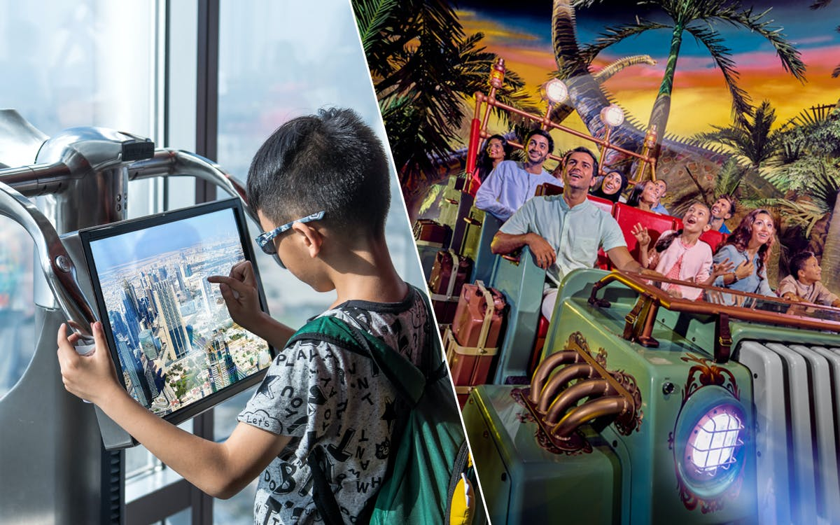 burj khalifa + free pastry & coffee at the café + img world of adventures-0