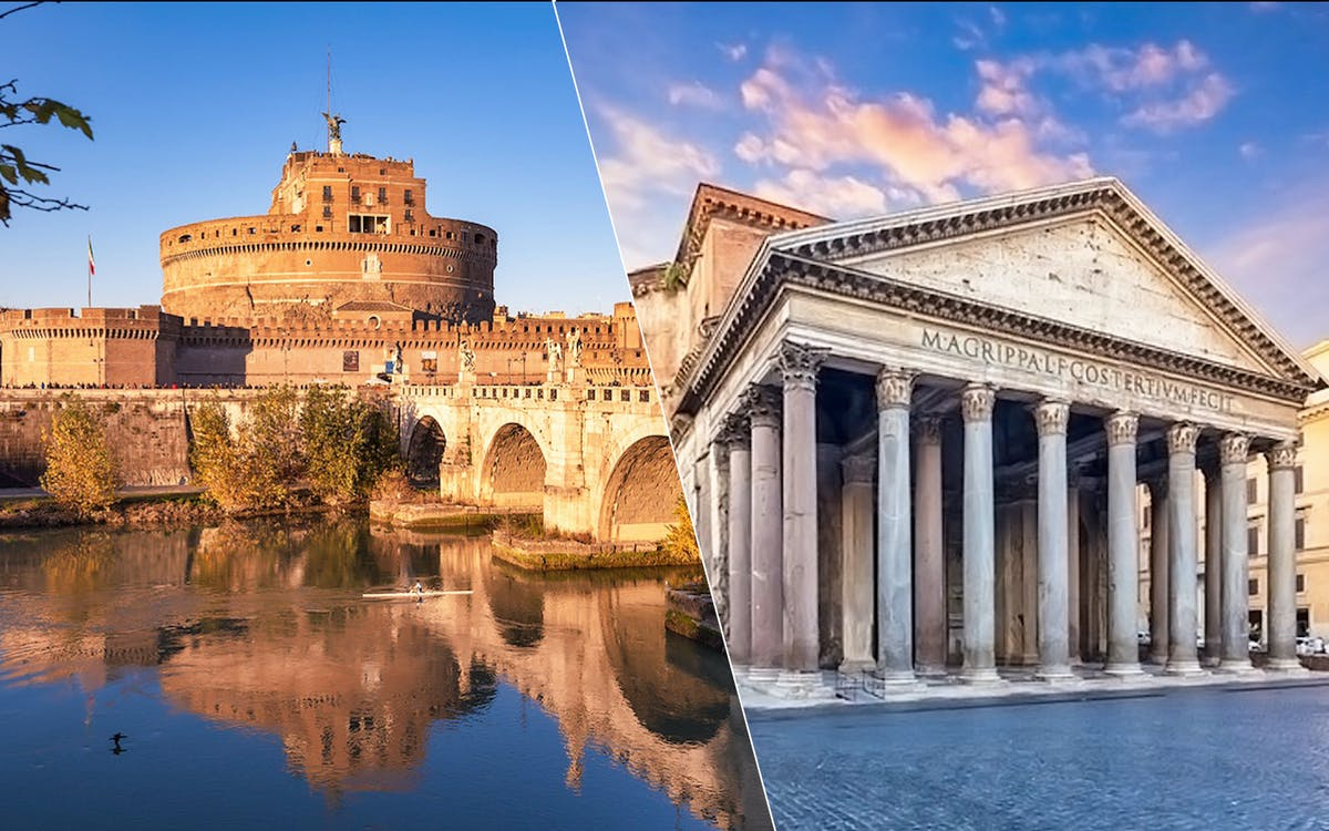 castel st angelo entry & pantheon ag-0