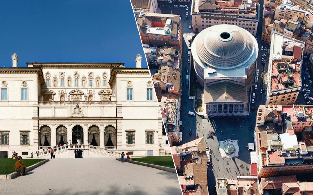 galleria borghese+pantheon-0