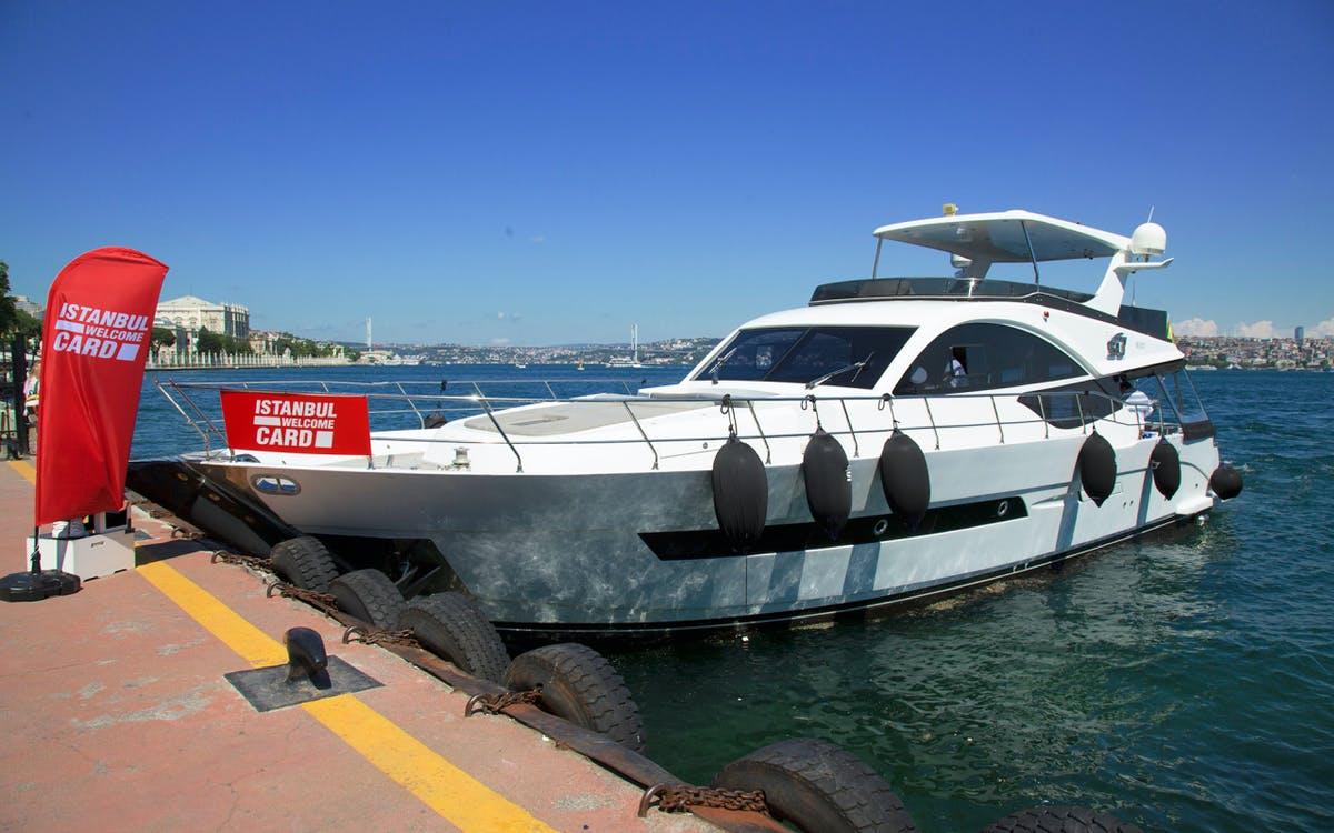 istanbul bosphorus sunset cruise with wine on a luxury yacht-0
