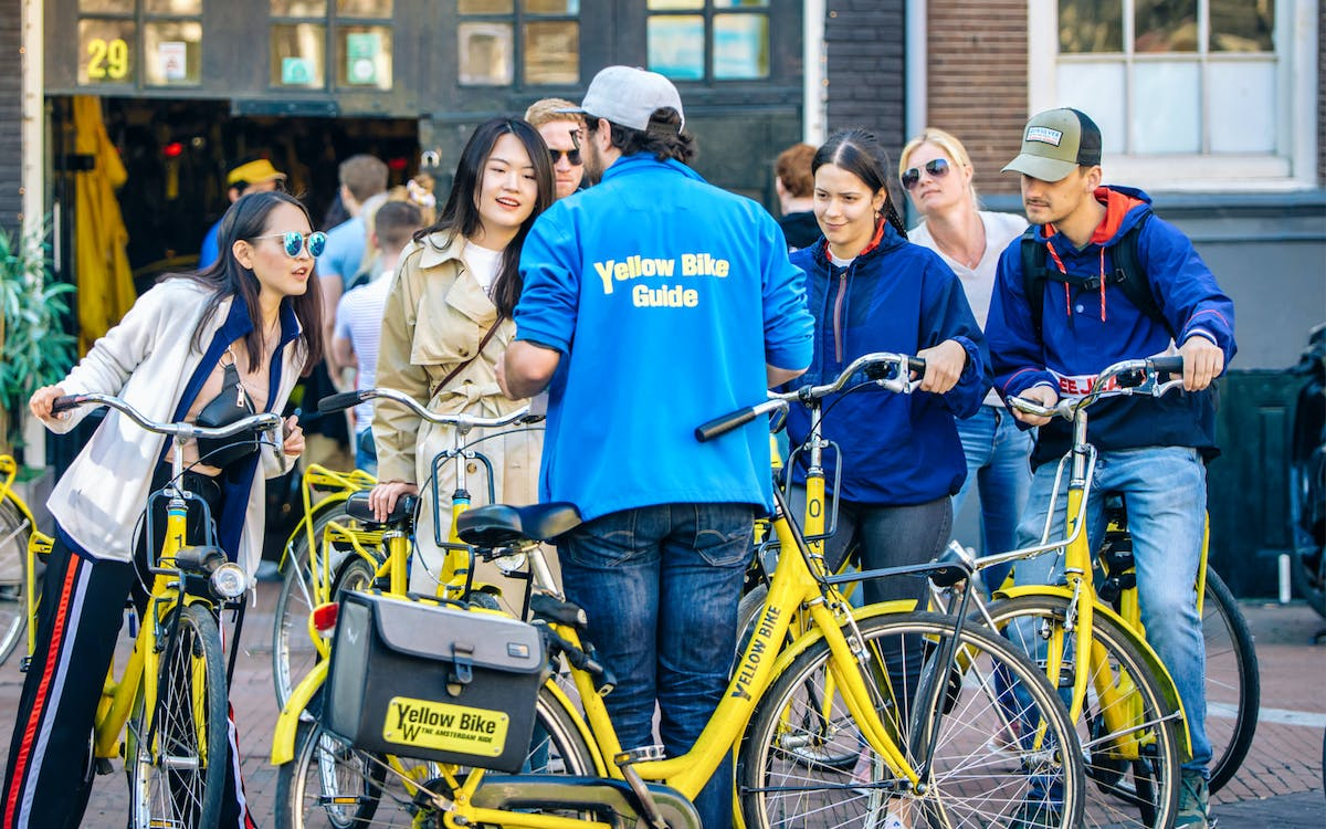 guided sightseeing bike tour of amsterdam - small group-0