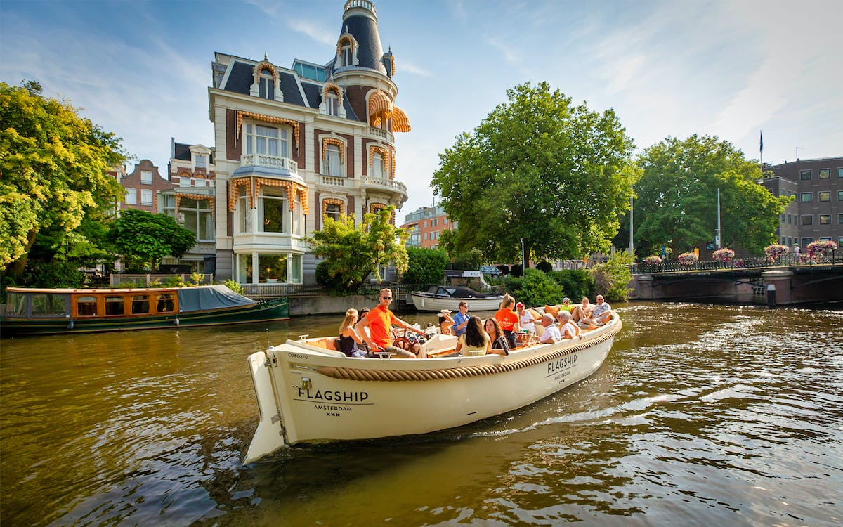 open boat canal cruise with live guide-0