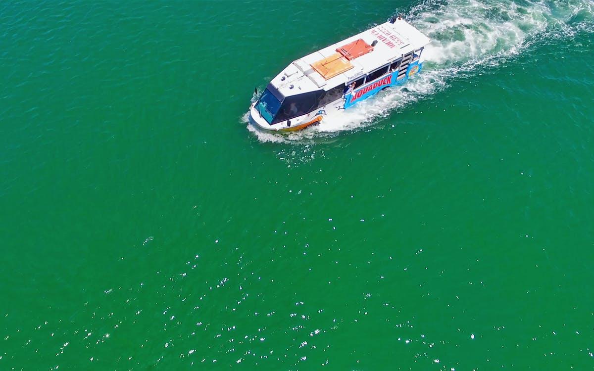 aquaduck sunshine coast: 1 hour city tour & river cruise-0