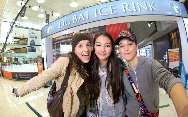 Dubai with kids- Dubai Ice Rink - 3