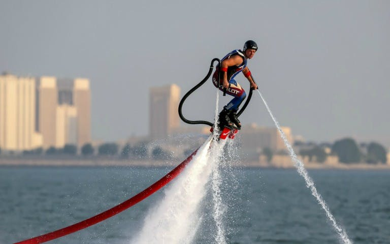Water sports in Dubai - jet pack