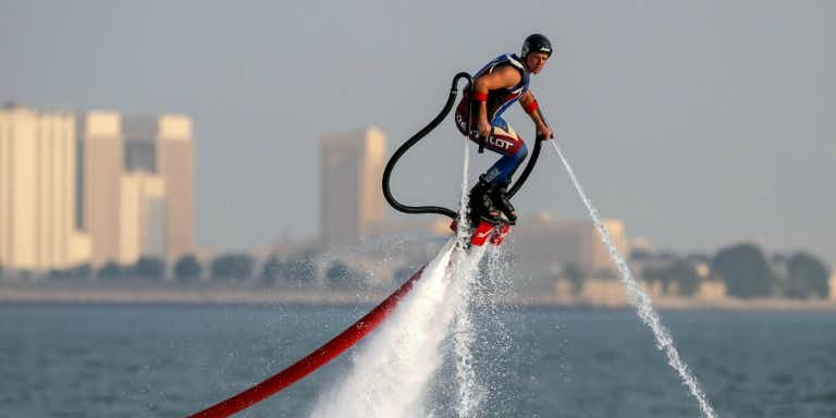 Water sports in Dubai - jet pack