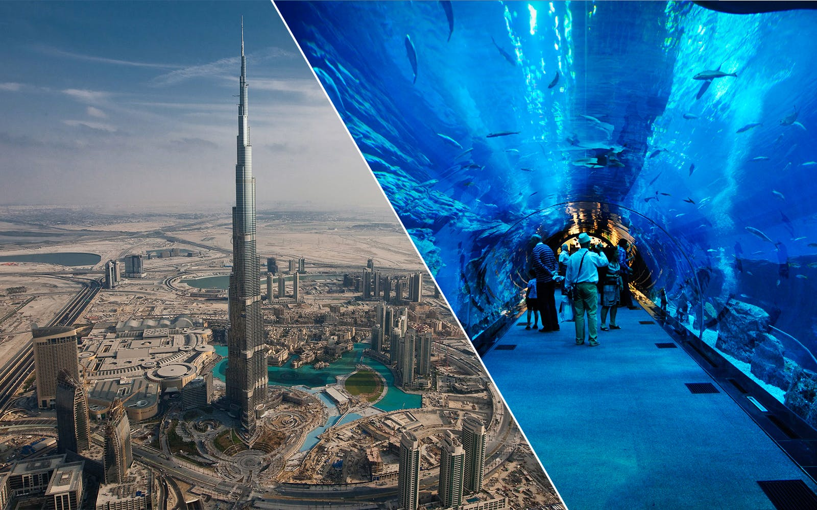 Burj Khalifa At The Top + Dubai Aquarium + Desert Safari 2 Day Combo