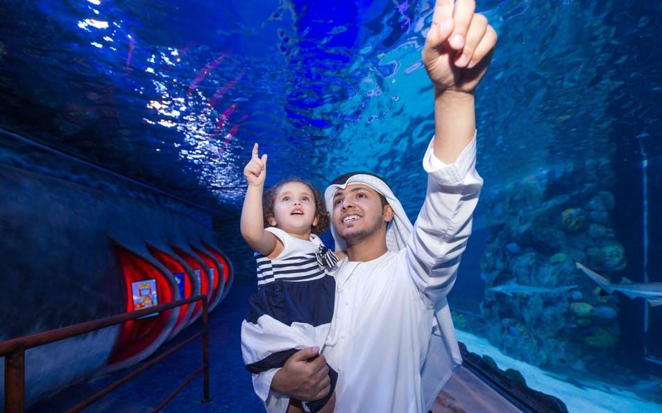 explore dubai: burj khalifa, aquarium & desert safari-0