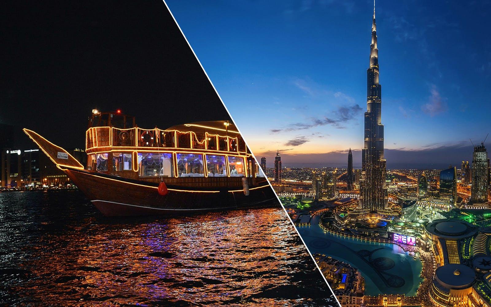 Best dhow cruise in Dubai - burj khalifa combo