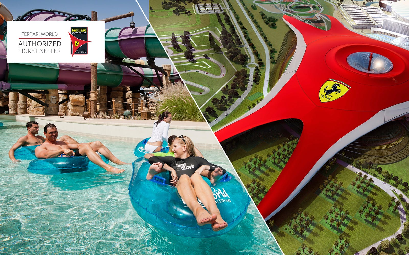 Ferrari World and Yas Waterworld: 2 Day Bronze Pass