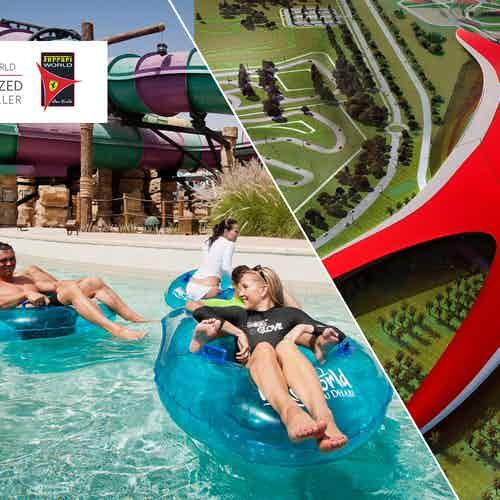yas waterworld + Ferrari World tickets