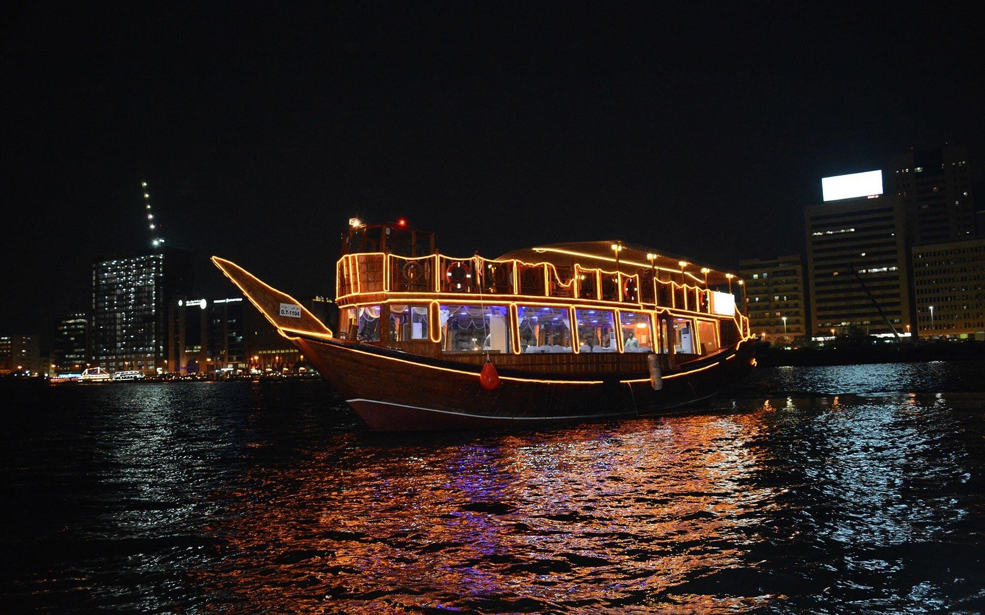 Best dhow cruise in Dubai - Marina dinner cruise