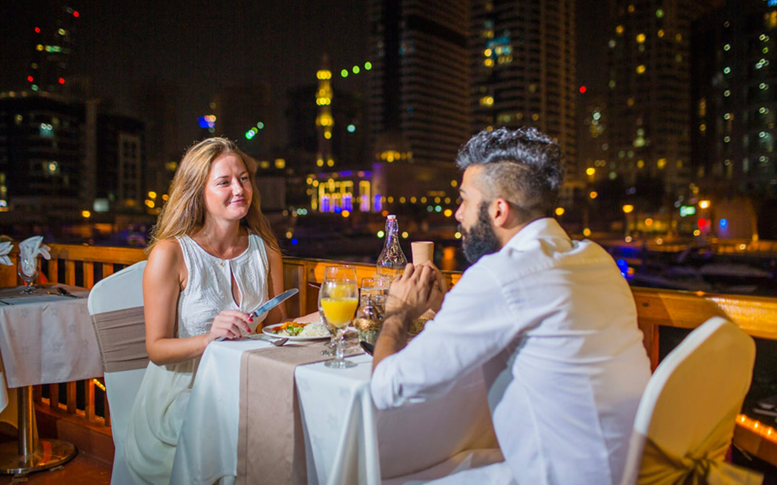 Dubai Marina Dhow Dinner Cruise with Live Entertainment