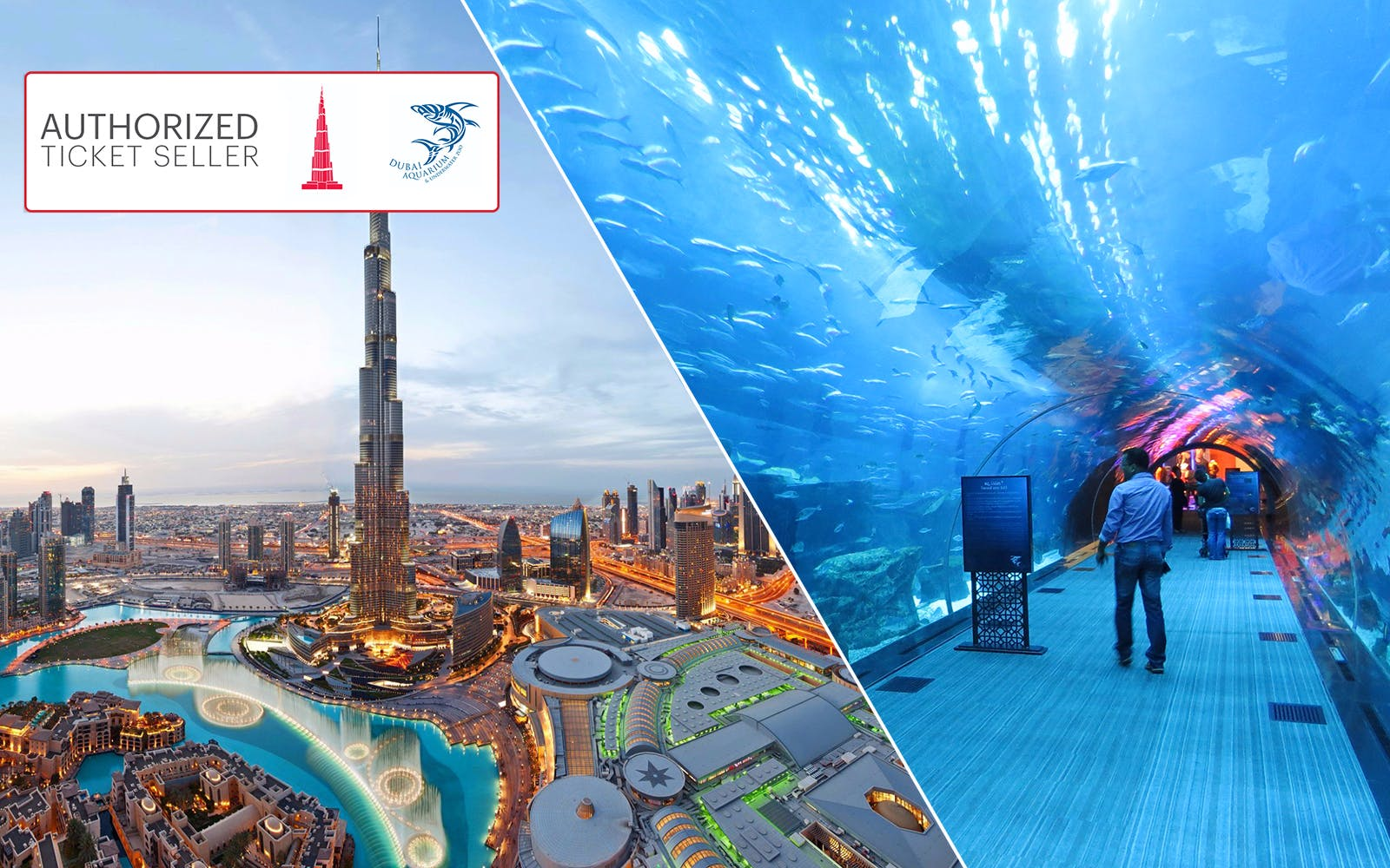Burj Khalifa and Dubai Aquarium Ticket Combo - Discounted