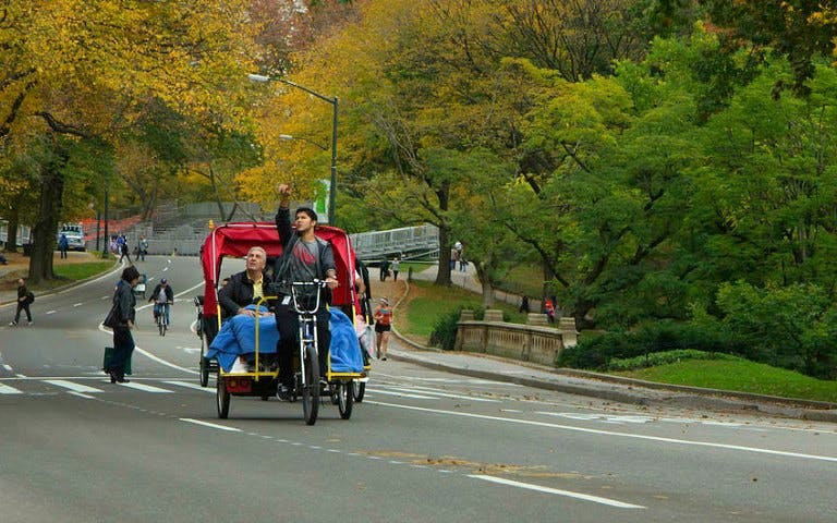 central park pedicab one hour tour -1