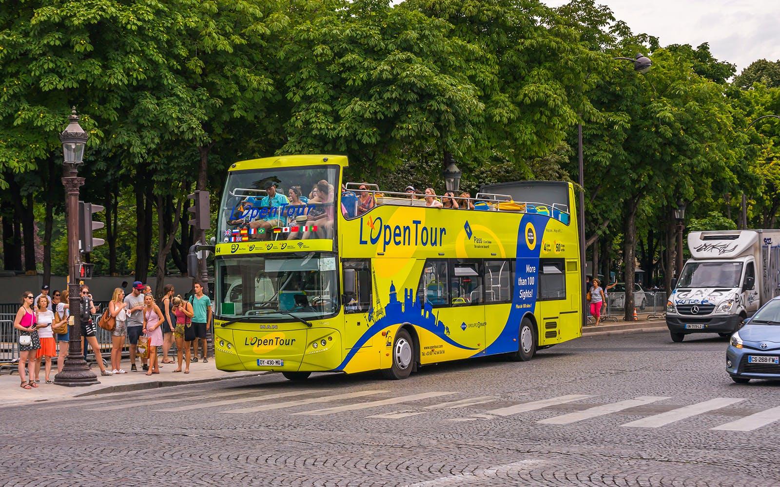 paris hop on hop off bus tours - 1
