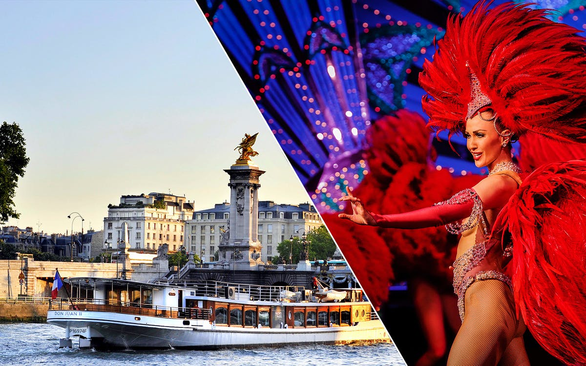 moulin rouge show with champagne and seine river cruise with transportation-1