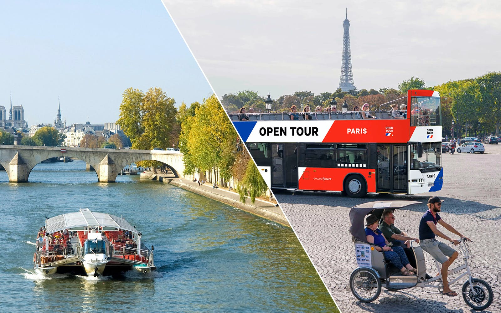 Hop-On Hop-Off Tour & Seine River Cruise Combo