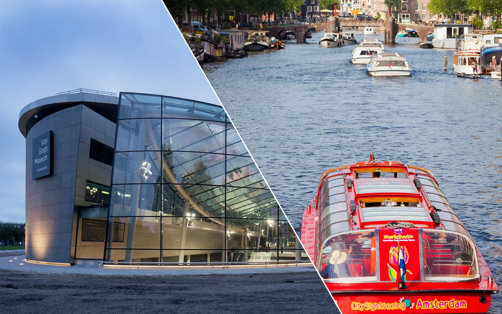 Skip The Line Combo: Van Gogh Museum & Hop-on Hop off Canal Cruise