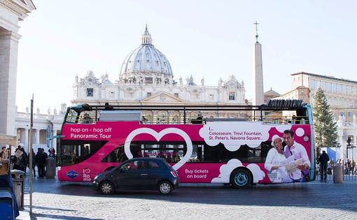 I Love Rome: Panoramabus-Tour mit Audioguide + Optionaler Hop-On-Hop-Off