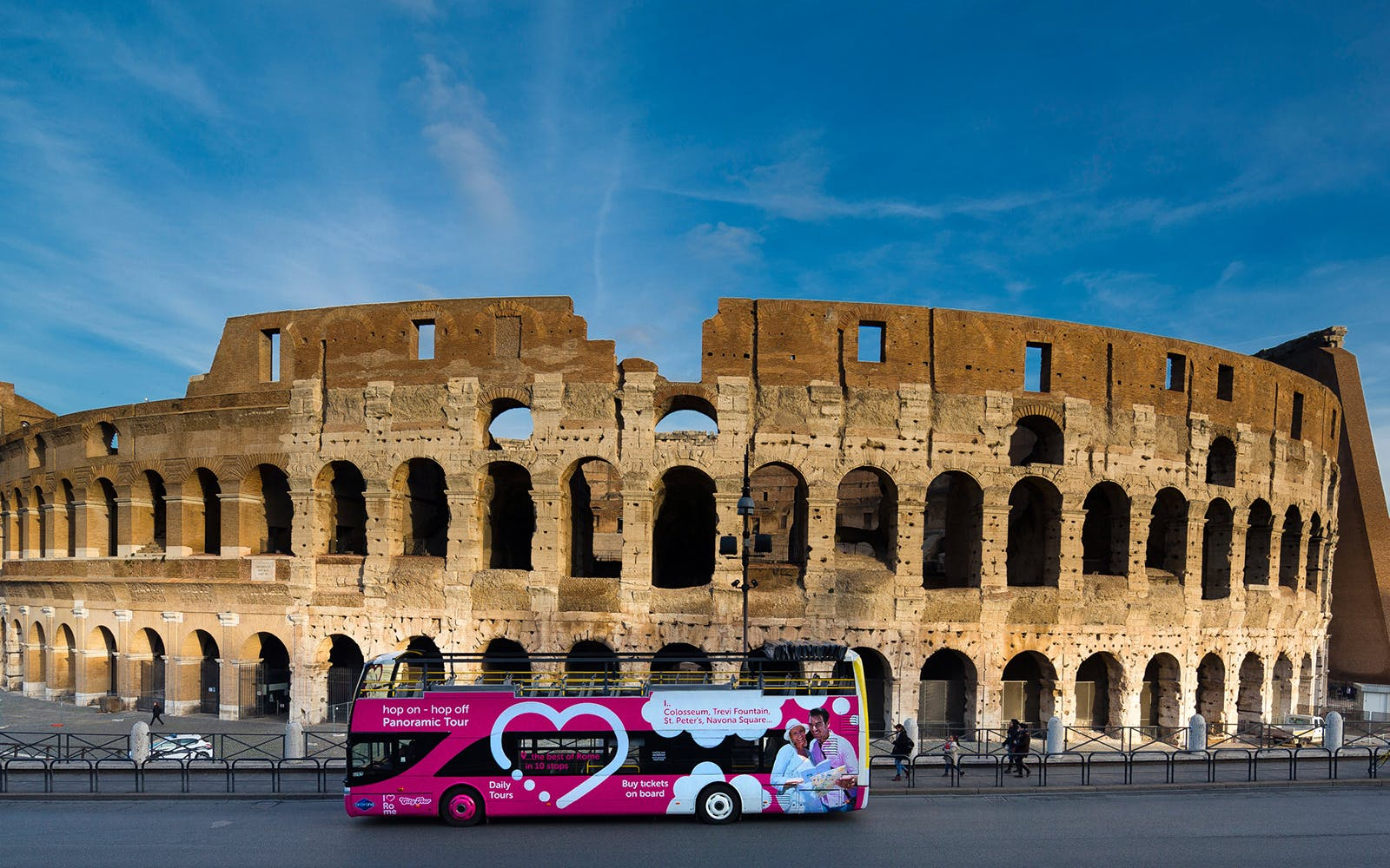 Hop-On Hop-Off Bus + Skip-the-Line Colosseum Tickets