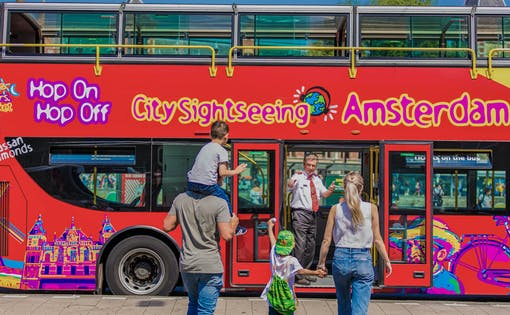 City Sightseeing Amsterdam Hop On Hop Off by Bus & Boat