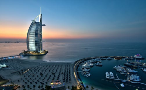 Evening Drinks at the Burj Al Arab
